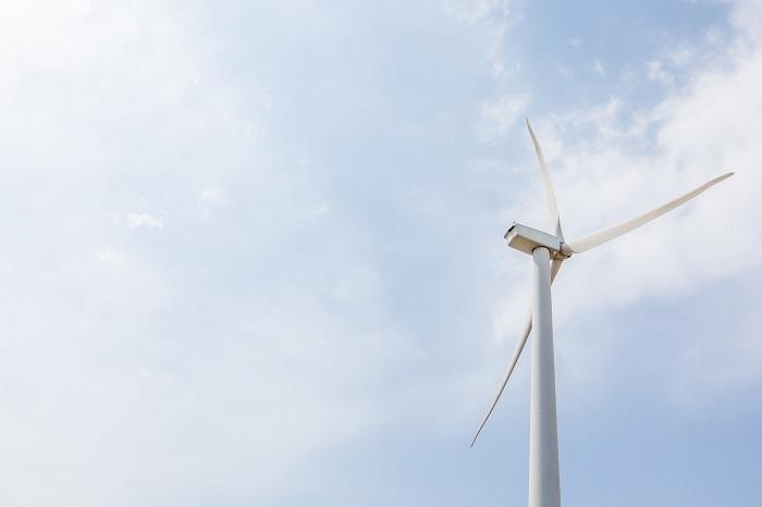 正在工作中的风力发电机