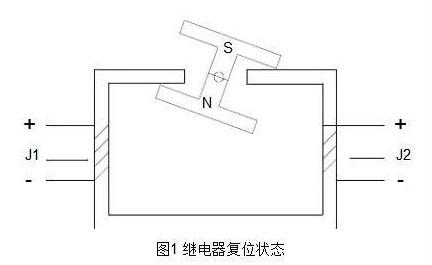 图1 继电器复位状态