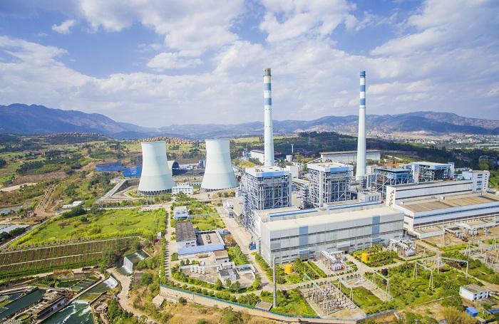 国家电网火电厂全景拍摄图