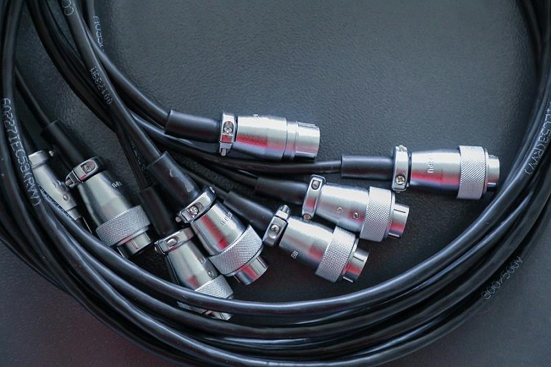 防水电缆接头特写