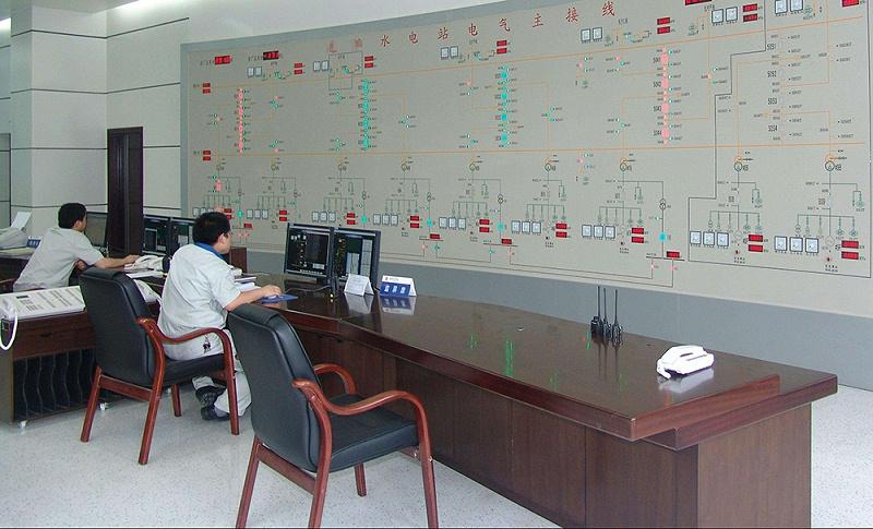 水电站中央控制室